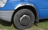 Накладки с нержавейки на колесные арки (4шт.) - Volkswagen LT, 1996 - 2006
