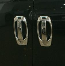 Накладки на ручки + окантовка (4 шт, нерж) - Peugeot Bipper (2008+)