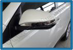 Накладки на зеркала (2 шт, нерж) - Toyota Rav 4 (2013+)