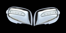Накладки на зеркала LED (2 шт, пласт) - Nissan Tiida (2004-2011)