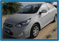 Накладки на зеркала (2 шт) - Hyundai Accent Solaris (2011+)
