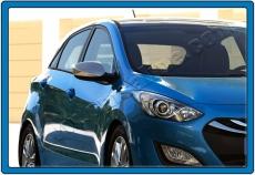 Накладки на зеркала (2 шт, нерж.) - Hyundai I-30 (2012+)
